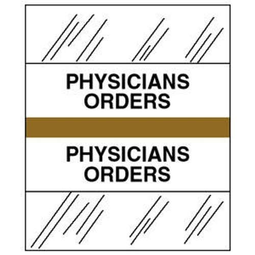 "Patient Chart Index Tabs/Labels - Gold - ""Physicians Orders"""