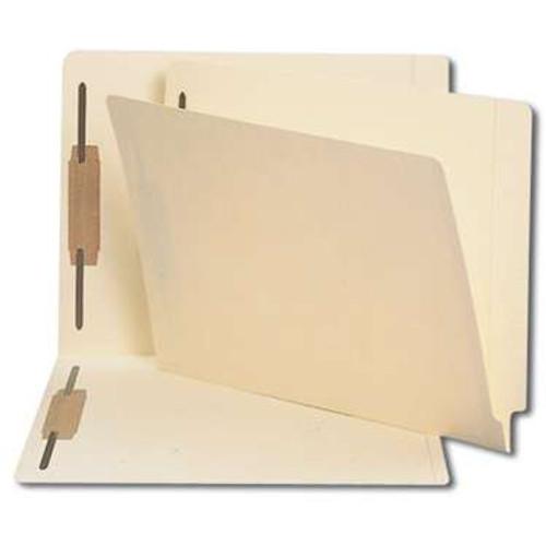 Smead End Tab Fastener File Folder, Shelf-Master Reinforced Straight-Cut Tab, 2 Fasteners, Letter Size, Manila, 250/Carton  (34125) - 5 Cartons