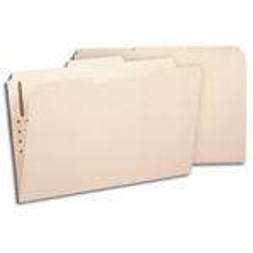 Smead 100% Recycled Fastener File Folder, 2 Fasteners, Reinforced 1/3-Cut Tab, Legal Size, Manila, 50 per Box (19547)