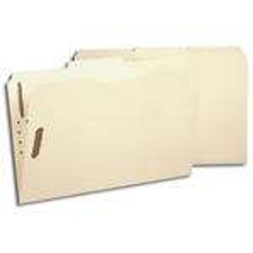 Smead Fastener File Folders, Legal, 2 Fasteners, Reinforced 1/3- Cut Tab, Legal Size, Manila, 50 Per Box (19537) - 5 Boxes