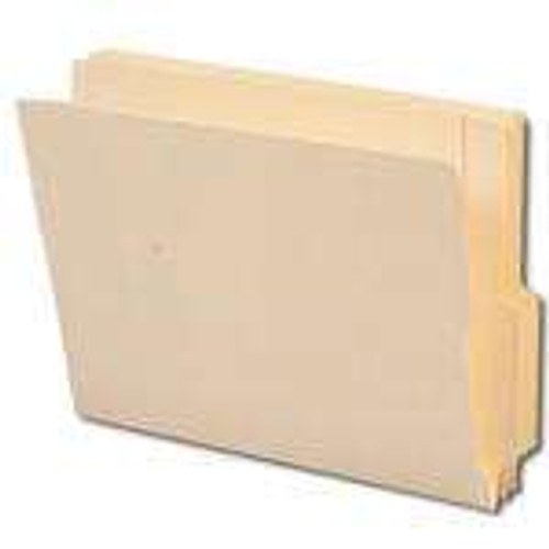"Smead End Tab File Folder, Shelf-Master Reinforced 4"" High Tab 1-1/8"" Up from Bottom, Letter Size, Manila, 100 per Box (24179)"