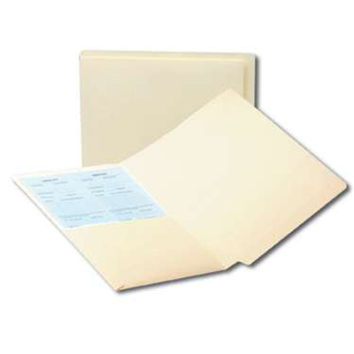Smead End Tab Pocket Folder, Shelf-Master Reinforced Straight-Cut Tab, 1 Pocket, Letter Size, Manila, 50 per Box (24115) - 5 Boxes