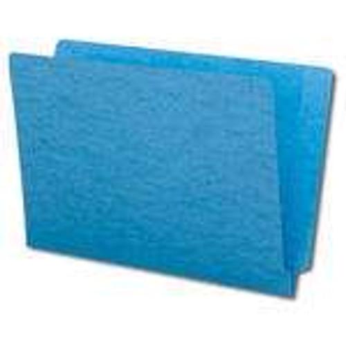 Smead Colored End Tab File Folder, Shelf-Master Reinforced Straight-Cut Tab, Legal Size, Blue, 100 per Box (28010)