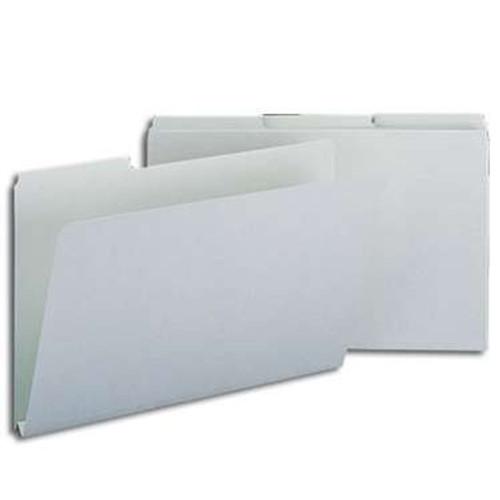 "Smead Pressboard File Folder, 1/3-Cut Tab, 1"" Expansion, Legal Size, Gray/Green, 25 per Box (18230) - 5 Boxes"