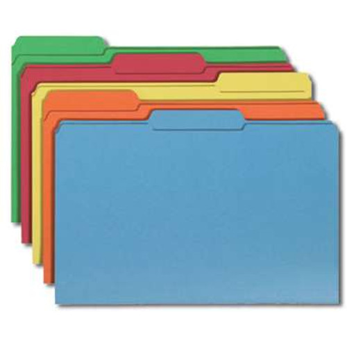 Smead File Folder, 1/3-Cut Tab, Legal Size, Assorted Colors, 100 per Box (16943) - 5 Boxes