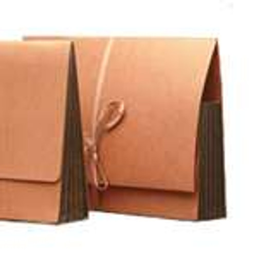 """Redweld Expanding folder With Extended Flap, Cloth Tie Closure, 5 1/4"""" Accordion Expansion, Tyvek Gusset, Legal Size - Carton of 50"""