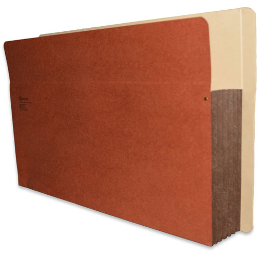 "Redweld Shelf folder, Full Flexible Side Tab - 5 1/4"" Accordion Expansion, Tyvek Gusset, Legal Size, 50/Carton"