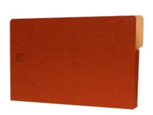 "Redweld Shelf folder, Side Self Tab - 4"" Long Right Side, 3 1/2"" Accordion Expansion, Tyvek Gusset, Legal Size - Carton of 50"