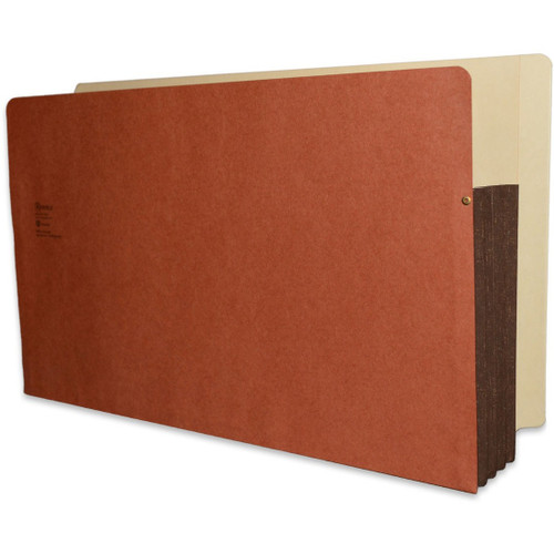 "Redweld Expandable File Pockets with Full Side Tab - 3 1/2"" Accordion Expansion with Tyvek Gusset, Legal Size - Carton of 50"