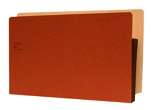 "Redweld Shelf folder w/ Full Flexible Side Tab Tyvek Gusset - No Notch - 3 1/2"" Accordion Expansion - Legal Size - Carton of 50"