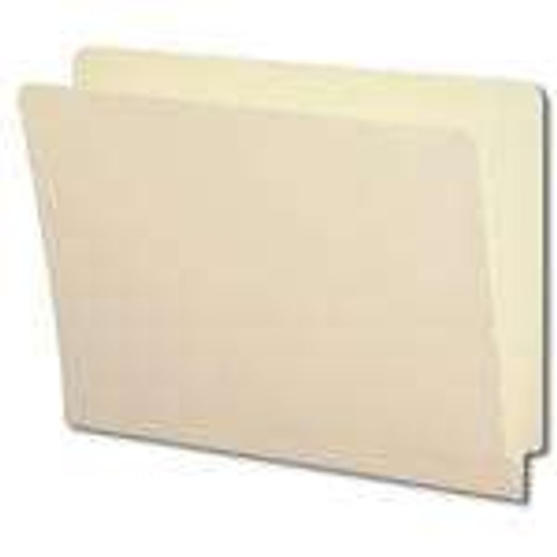 Smead End Tab File Folder with Antimicrobial Product Protection, Reinforced Straight-Cut Tab, Letter Size, Manila (24110)