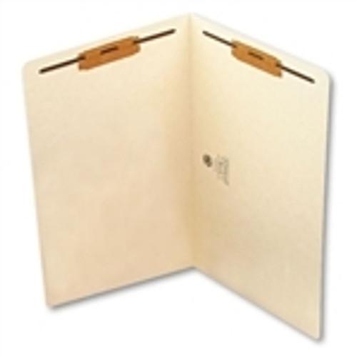 Smead End Tab Fastener File Folder, Shelf-Master Reinforced Straight-Cut Tab, 2 Fasteners, Legal Size, Manila, 50 per Box (37115) - 5 Boxes