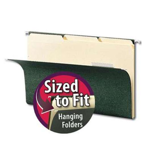 Smead Interior File Folder, 1/3-Cut Tab, Legal Size, Manila, 100 per Box (15230) - 5 Boxes