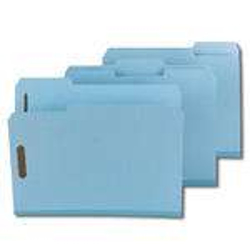 "Smead Pressboard Fastener File Folder with SafeSHIELD Fasteners, 2 Fasteners, 1/3-Cut Tab, 2"" Expansion, Letter Size, Blue (14937) - Total of 5 Boxes - 25 per Box"