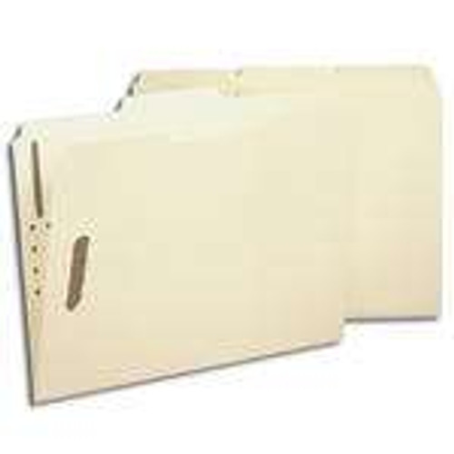 Smead 100% Recycled Fastener File Folder, 2 Fasteners, Reinforced 1/3-Cut Tab, Letter Size, Manila (14547)