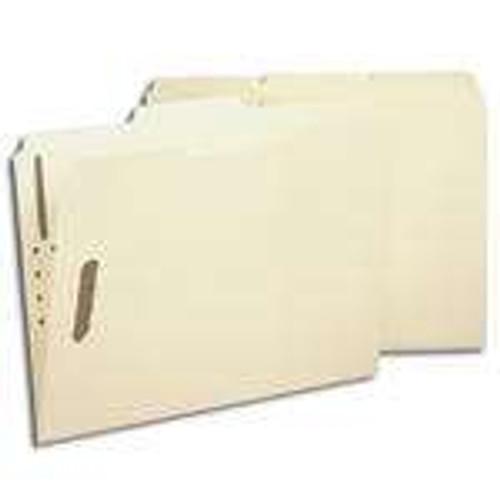 Smead 100% Recycled Fastener File Folder, 2 Fasteners, Reinforced 1/3-Cut Tab, Letter Size, Manila (14547)