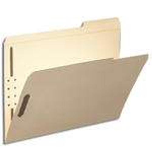 Smead Fastener File Folder, 2 Fasteners, Reinforced 1/3-Cut Tab Right Position, Letter Size, Manila (14538)