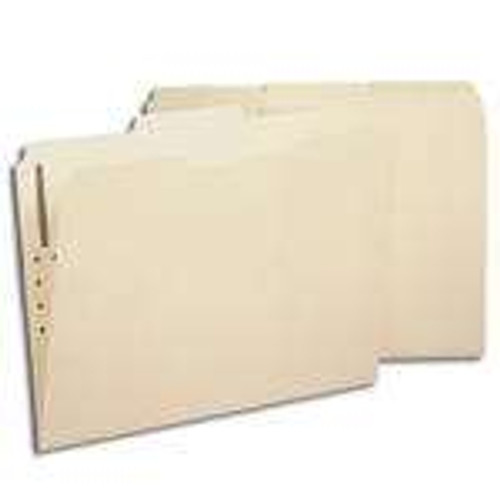 Smead Fastener File Folder, 1 Fastener, Reinforced 1/3-Cut Tab, Letter Size, Manila (14534) - Total of 5