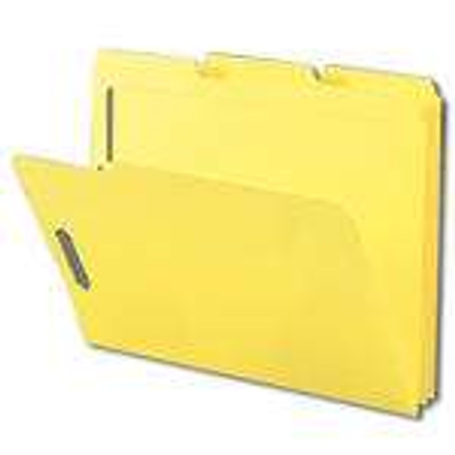 Smead Fastener File Folder, 2 Fasteners, Reinforced 1/3-Cut Tab, Letter Size, Yellow, 50 per Box (12940) - 5 Boxes