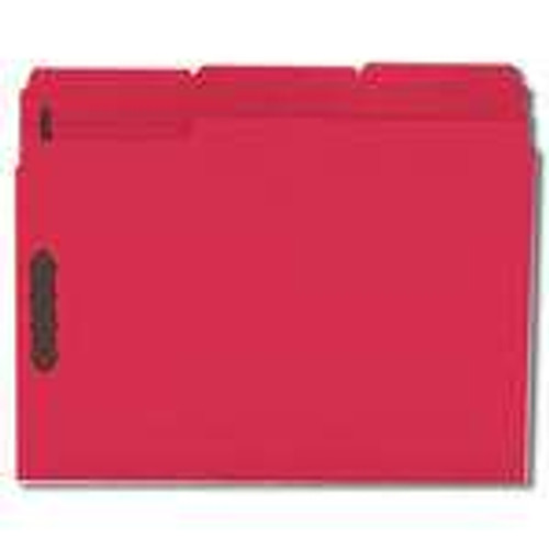 Smead Fastener File Folder, 2 Fasteners, Reinforced 1/3-Cut Tab, Letter Size, Red, 50 per Box (12740) - 5 Boxes