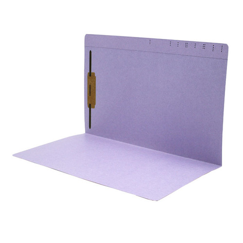 Lavender Top Tab File Folder With Fastener in Position 1 - Legal Size -  11 pt -  Reinforced Straight Cut Top Tab - 50/Box