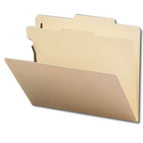 "Smead Classification File Folder, 1 Divider, 2"" Expansion, Letter Size, Manila, 10 per Box (13700) - 5 Boxes"