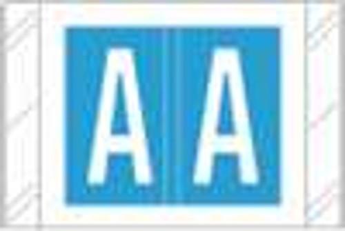 Tabbies Alphabetic Labels - 12100 Series (Rolls) A- Lt. Blue