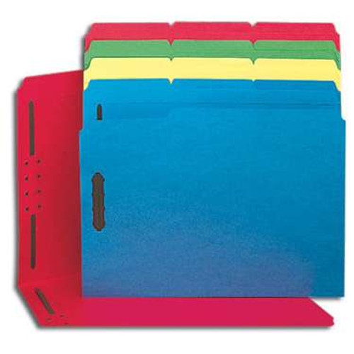 Smead Fastener File Folder, 2 Fasteners, Reinforced 1/3-Cut Tab, Letter Size, Assorted Colors, 50 per Box (11975) - 5 Boxes