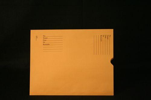Medical Folder Economy Negative Preservers- Open End.  28 lb. Brown Kraft Stock, 500 Negative Preservers per Carton, Size 11 1/2 X 14 1/2