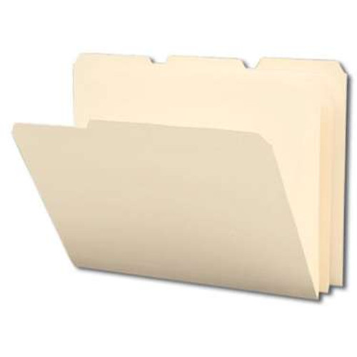 Smead Poly File Folder, 1/3-Cut Tab, Letter Size, Manila, 12 per Pack (10510) - 12 Packs