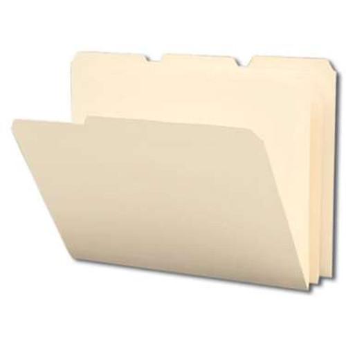 Smead Poly File Folder, 1/3-Cut Tab, Letter Size, Manila, 12 per Pack (10510) - 12 Packs