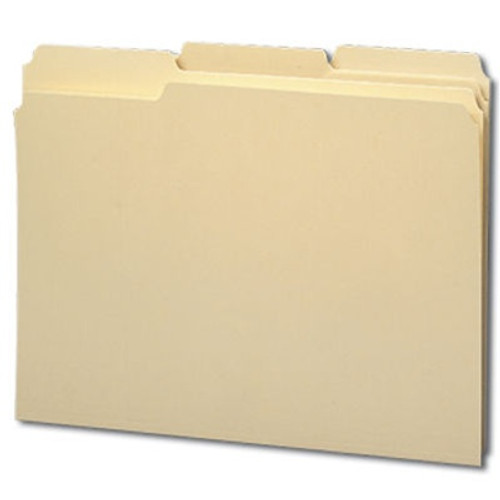 Smead File Folder, Reinforced 1/3-Cut Tab, Letter Size, Manila, 100 Per Box (10434)