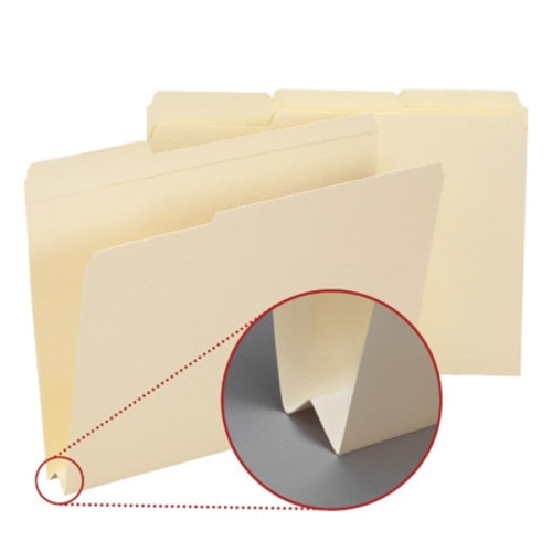 "Smead File Folder, Reinforced 1/3-Cut Tab, 1-1/2"" Accordion Expansion, Letter Size, Manila, 50 Per Box (10405)"