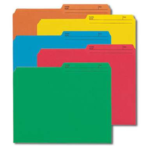 Smead Reversible File Folder, 1/2-Cut Printed Tab, Letter Size, Assorted Colors, 50 per Pack (10394) - 6 Packs