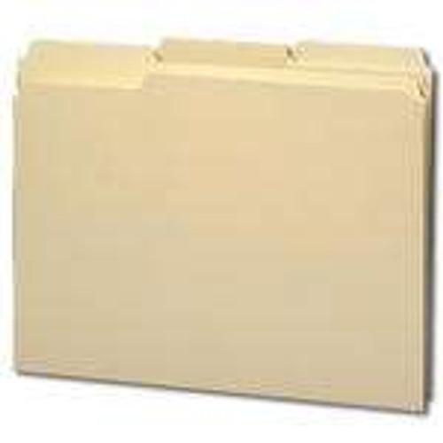 Smead 100% File Folder, Reinforced 1/3-Cut Tab, Letter Size, Manila, 100 Per Box (10347)