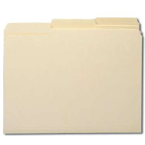 Smead CutLess File Folder, 1/3-Cut Tab, Letter Size, Manila, 100 Per Box (10341) - 5 Boxes