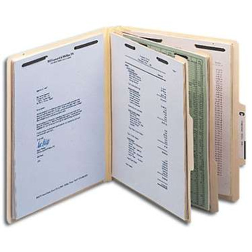"Smead Classification File Folder, 2 Divider, 2"" Expansion, Letter Size, Manila, 10 per Box (14000) - 5 Boxes"