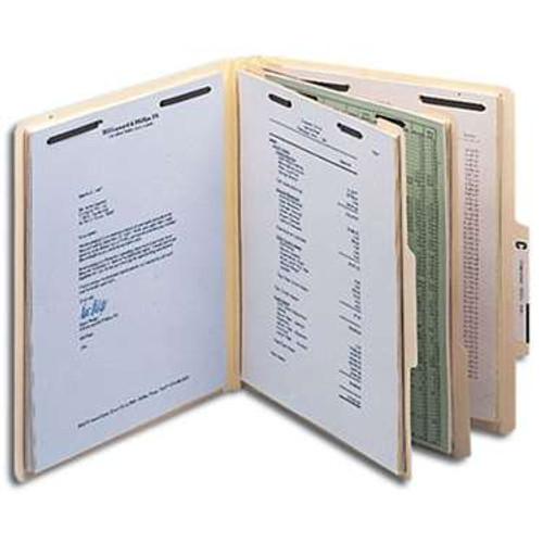 "Smead Classification File Folder, 2 Divider, 2"" Expansion, Letter Size, Manila, 10 per Box (14000) - 5 Boxes"