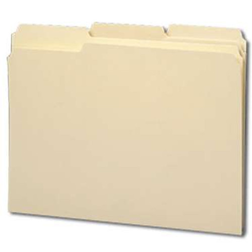 Smead WaterShed File Folder, Reinforced 1/3-Cut Tab, Letter Size,  Manila, 100 Per Box (10314) - 5 Boxes