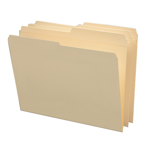 Smead 10326  File Folders, Reinforced 1/2-Cut Tab, Letter Size, Manila,  Carton of 500