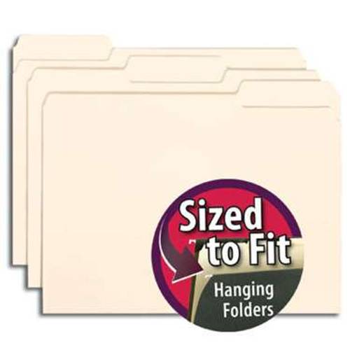 Smead Interior File Folder, 1/3-Cut Tab, Letter Size,  Manila , 100 per Box (10230) - 5 Boxes