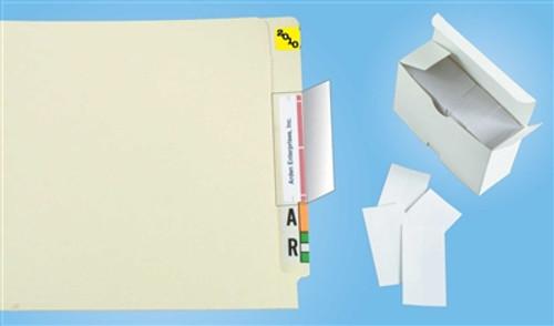 "Name Label Folder Protectors - 1-3/4"" W X 3-1/2"" H - 100 Pack"