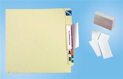 "Name Label Folder Protectors - 2"" W X 4"" H - 100 Pack"