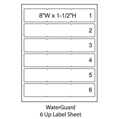 "Smead ColorBar 8"" WaterGuard Inkjet Printer Labels - 6 Up Sheet - Pack of 1008 Labels"