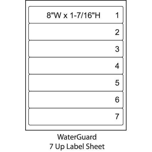 "Smead ColorBar 8"" WaterGuard Inkjet Printer Labels - 7 Up Sheet - Pack of 1008"