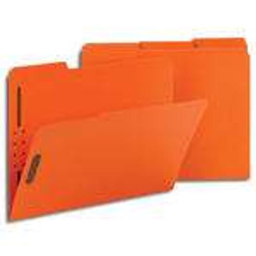Smead Fastener File Folder, 2 Fasteners, Reinforced 1/3-Cut Tab, Letter Size, Orange, 50 per Box (12540)