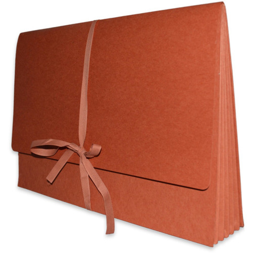 """Redweld Expanding Envelope, Cloth Tie Closure, 5 1/4"""" Expansion, Paper Gusset, Legal Size, 50/Box"""