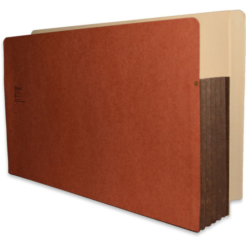 """Redweld Shelf Pocket with Right Side Tab - 5 1/4"""" Accordion Expansion, Tyvek Gusset, Legal Size - Carton of 50"""