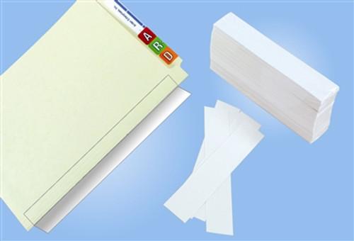 "Name Label Folder Protectors - 2"" W X 11"" H - 100 Pack"