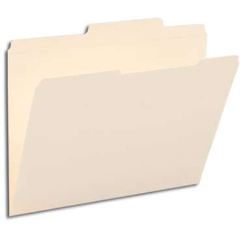 Smead File Folders, Reinforced 2/5-Cut Right of Center Position, Guide Height, Letter Size, Manila, 100 Per Box (10376) - 5 Boxes